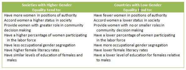 How does culture influence gender inequality?
